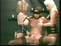 blindfolded slave used vintage bdsm
