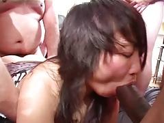 hot asian girl gets gangbang by white men