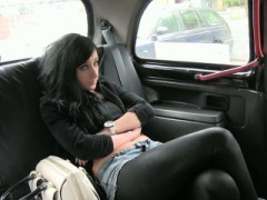 Black Haired Amateur Girl Pounded By The Fake Driver