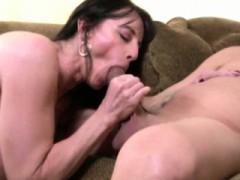 Busty Cougar Mom Loves Sucking Rod