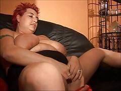 German BBW Big Boobs Redhead