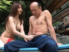 Sexy Asian Girl Suck Nipple While Jerks