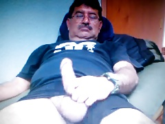 mexican daddy showing his big dick on cam