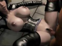Busty Animated Slut In Latex