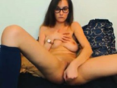 Hot Teen Webcam Girl Drills Her Pussy