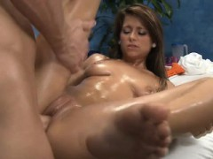 Hawt 18 Year Old Gets Fucked Hard Doggy Style By Her Massage