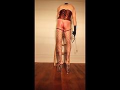 Self spanking slut .