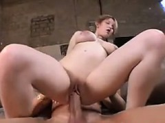 Busty Amateur Girl With A Large Cock