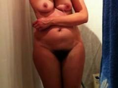 Morning Shower Housewife Ellen On Spy Camera