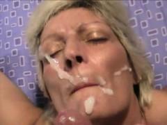 Naughty Blonde Milf Facial Cumshot Pov
