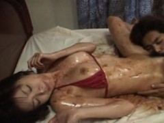 Mai Yamasaki Has Body Covered In Sauces And Cunt Roughly