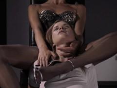 Incredible Lezzies Having Havingsex With Dildo