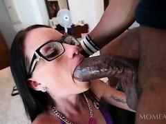 Teen In Glasses Eats And Fucks Black Dick