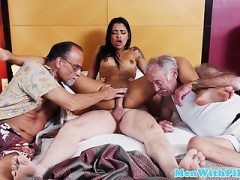 Old Seniors Ravaging Younger Babe
