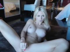 Blonde Webcam Goddess 20 Black Dress And Heels Squir