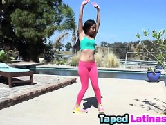Latina Mila Jade Reverse Cowgirl Riding Big Rod