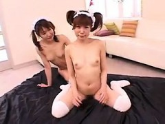 Nasty Japanese Babe With A Fabulous Ass Gets Her Tight Peac