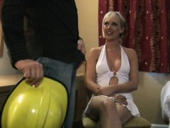 Clothed Amateur Sucks Rod