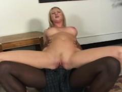 Busty Blonde Milf Sucks Big Black Cock And Rides