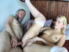 Young Playgirl Gives An Old Dude Nice Blowjob And Fucks