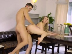 Elegant Blonde Businesswoman In Heels Gets Fucked Hard