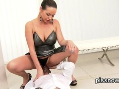 Astonished Hottie In Lingerie Is Geeting Peed On And Reamed8