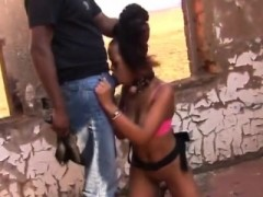 Busty African Slave Gets Tortured By Horny Guy