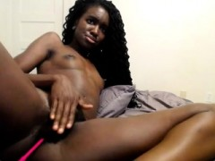 Ebony Babe Toying With Herself