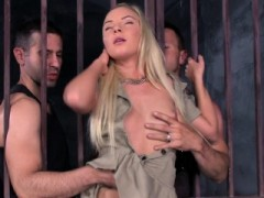 Pretty Prison Guard Assfucked While Sucking