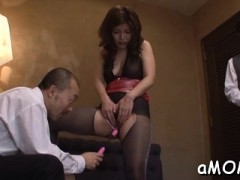 Asian Mommy Bends For One-eyed Monster In Asian Fuck Video