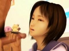3d Busty Schoolgirl Takes A Facial!