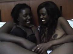 Ebony Lesbian African Sluts Love Showing Off Their Love.