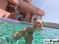 Busty Blondes Alix And Cherie Go Skinnydipping