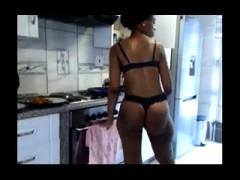 Classy Ebony Bitch Shagging In Black Lingerie