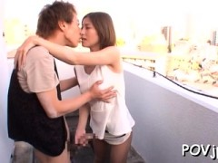 Youthful Hottie Gets Groped And Screwed Hard By Her Man