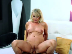 Nipple Licked Blonde Gran