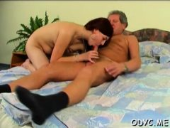 Concupiscent Old Chap Licks And Fucks A Teen's Shaved Pussy