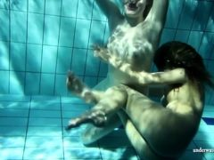 Zuzana And Lucie With Big Tits Horny In The Pool