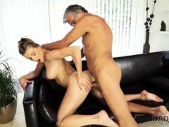 Daddy4k. Cutie Looks Hot In Wet Swimsuit So Why Old Man