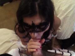 Mother Training Patron's Daughter Swalloween Fun