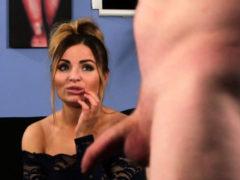 Stunning Cfnm Babe Humiliates Wanking Loser