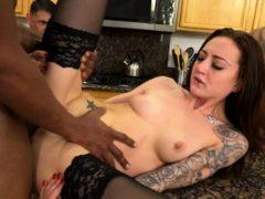 Cheating Wife Kissing Her Black Bull