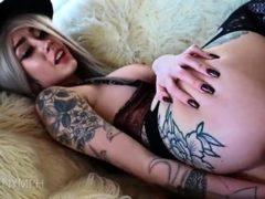 Horny Blonde Tereza Solo Toying