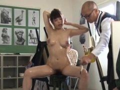 Lusty Asian Rion Nishikawa Vibrator Herself In The Pussy