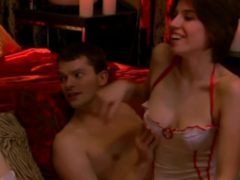 Nikki Can't Stop Moaning In Her First Swinger Softcore Orgy!